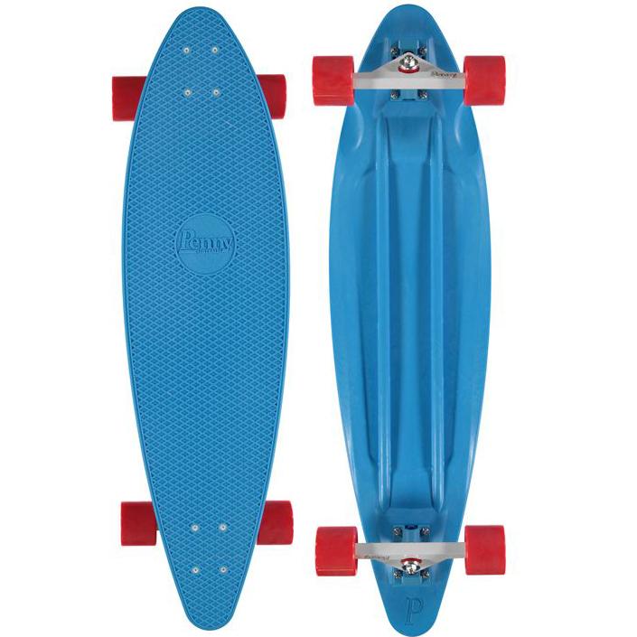 Лонгборд Penny Longboard 36, цвет: BlueRA-Penny продукт 12-ти летнего опыта в производстве скейтбордов Бена Маккея. В Penny он вложил все что знал о дизайне и производстве, чтобы придумать качественную, крепкую, фановую и цветную виниловую доску пенни. PENNY комплект лонгборд для детей от 7-ми лет. Предназначен для активного отдыха.