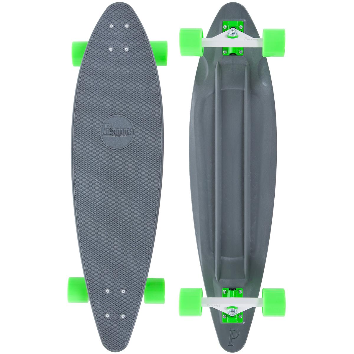 Лонгборд Penny Longboard 36, цвет: серый, зеленый, дека 91,4 х 24,5 см скейтборды penny комплект лонгборд original 22 ss