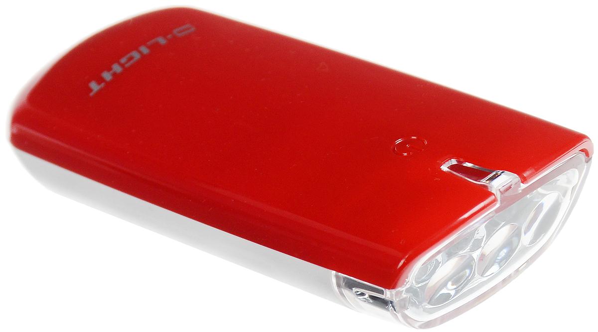 Фара велосипедная D-Light CG-120W, цвет: красный, белыйMW-1462-01-SR серебристыйФара с тремя белыми светодиодами D-Light CG-120W предназначена для обеспечения большей безопасности при поездках в темное время суток. Легко снимается и помещается в кармане. Фара крепится без дополнительных инструментов. Корпус изделия выполнен из прочного пластика, водонепроницаем. Фара имеет 3 режима: мигание, ближний свет, дальний свет.Фонарь питается от 2 батарей типа АА (входят в комплект).Время свечения в режиме дальнего света: 30+ ч.Время свечения в режиме ближнего света: 60+ ч.Время мигания: 120+ ч.Размер фары (без учета крепления): 8,8 х 3,6 х 1,8 см.