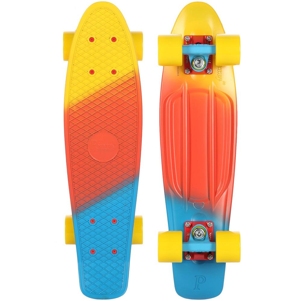 Пенни борд Penny Original, цвет: желтый, оранжевый, голубой, дека 57 х 15 см скейтборды penny комплект лонгборд original 22 ss