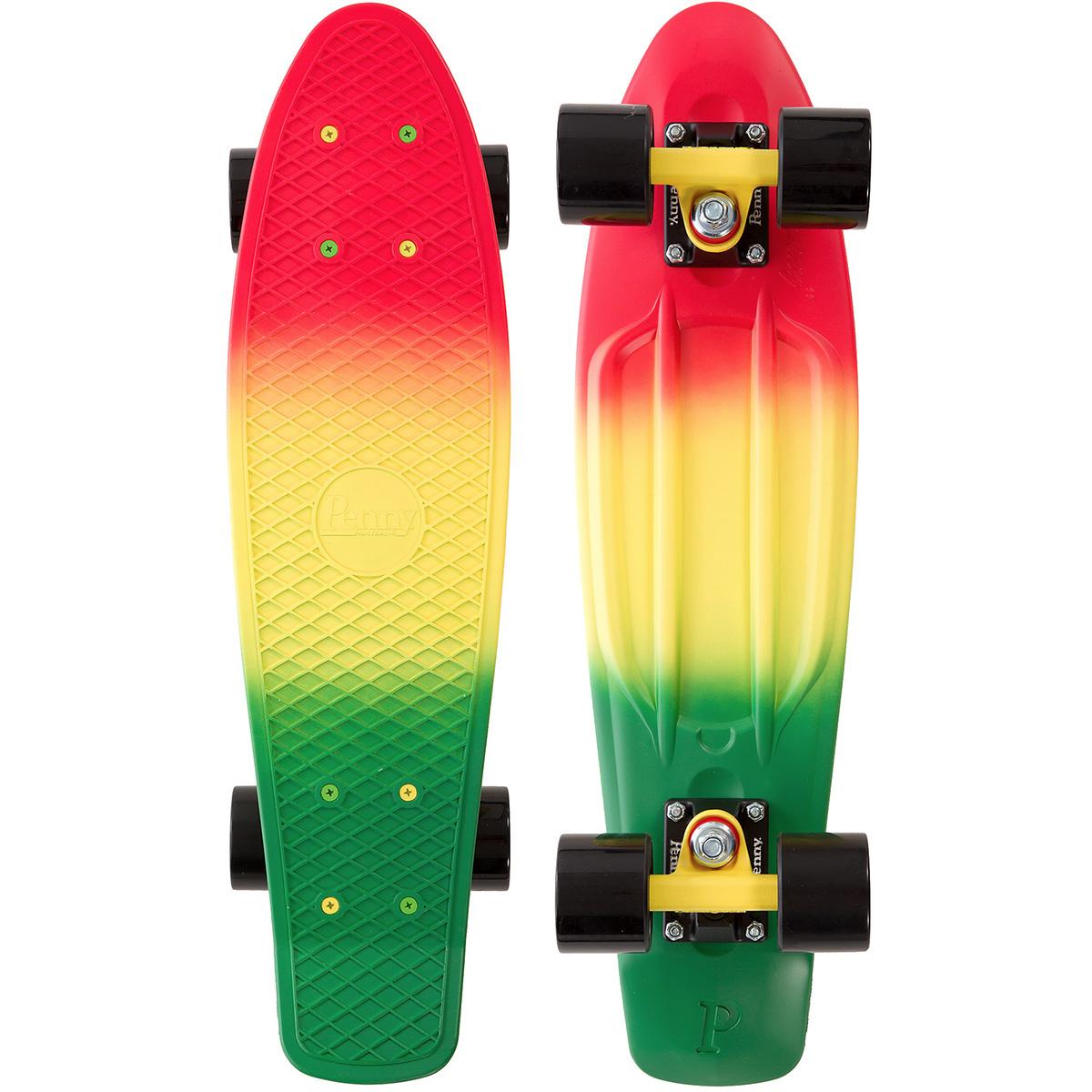 Пенни борд Penny  Original , цвет: желтый, розово-красный, черный, дека 57 х 15 см - Скейтборды и пенни борды