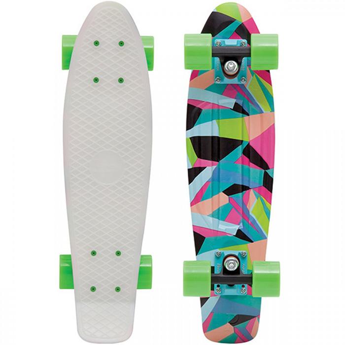 Пенни борд Penny Original, цвет: белый, зеленый, синий, дека 57 х 15 см скейтборды penny комплект лонгборд original 22 ss