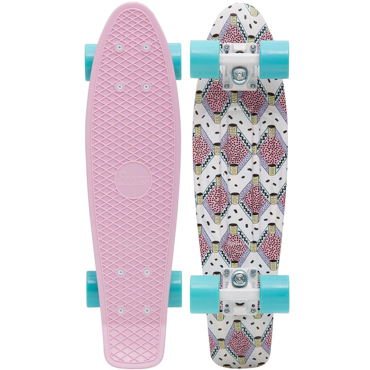 Пенни борд Penny Original, цвет: светло-розовый, голубой, дека 57 х 15 см скейтборды penny комплект лонгборд original 22 ss