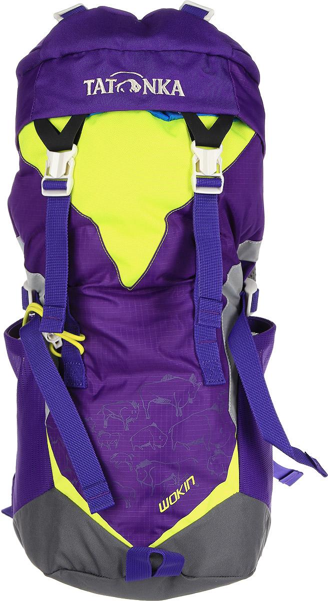 Рюкзак детский Tatonka Wokin, цвет: фиолетовый, 11 лRivaCase 8460 aquamarineТрекинговый рюкзак для юных путешественников c 6 лет. Смягченная несущая система рюкзака приспособлена к телосложению ребенка, а спортивный дизайн делает его взрослым