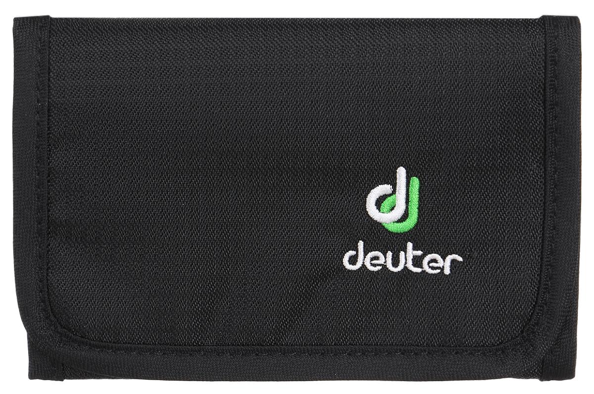 Кошелек Deuter Travel Wallet, цвет: черныйГризлиЛегкий, мягкий, но прочный кошелек. Идеальный бумажник для путешествий с дополнительной застежкой-липучкой.