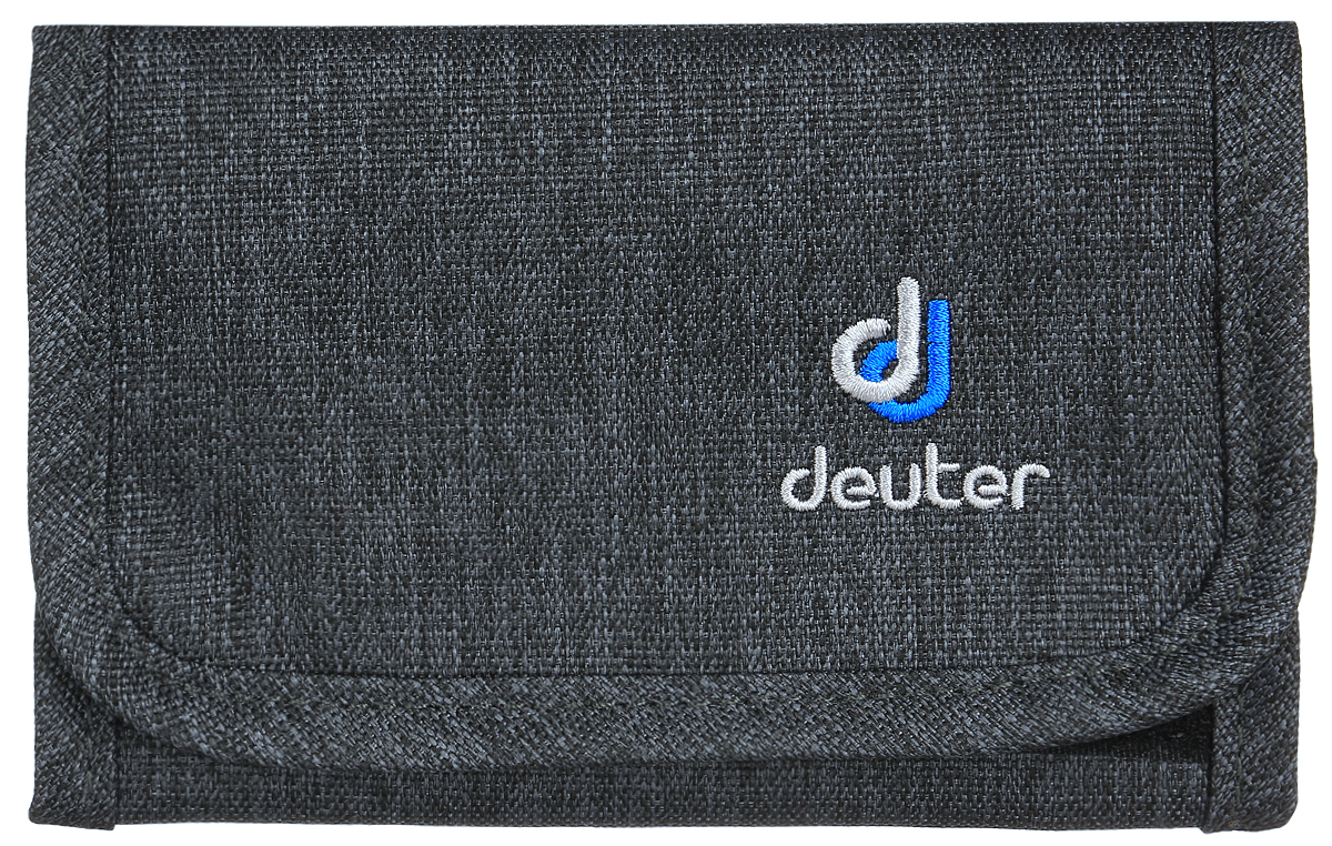Кошелек Deuter Travel Wallet, цвет: черный, серый332515-2358Легкий, мягкий, но прочный кошелек. Идеальный бумажник для путешествий с дополнительной застежкой-липучкой.