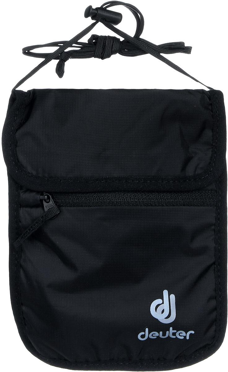 Кошелек Deuter Security Wallet II, цвет: черныйГризлиТонкий мягкий нагрудный кошелек для денег и документов. Есть дополнительное отделение.