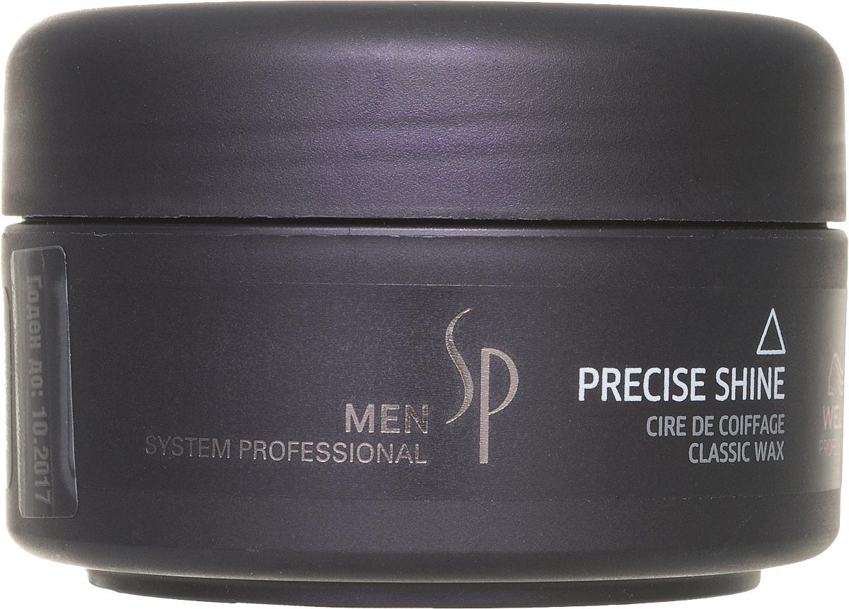 Wella SP Воск для укладки и блеска Men Precise Waх, 75 млSatin Hair 7 BR730MNВоск для укладки и блеска Precise Wax прост в использовании, а его действие продлится на весь день. Воск наносится на сухие волосы, очень экономичен, поскольку имеет густую консистенцию, обеспечивает качественный уход за волосами и устойчивый стайлинг для мужчин. Придает волосам гибкость, блеск, пластичность, прекрасно моделирует волосы, помогая создавать любой стиль укладки. Петролатум – масленый компонент, который улучшает текстуру, облегчает расчесываемость волос, усиливает их упругость и придает им блеск. PEG-12 – жидкий восковый компонент, который придает гибкость волосам.