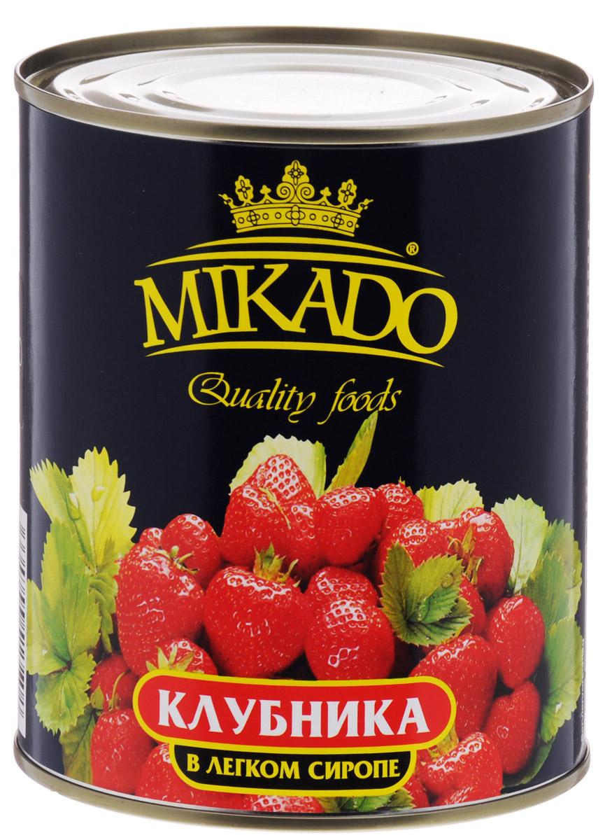 Mikado клубника в легком сиропе, 850 мл mikado abm 322
