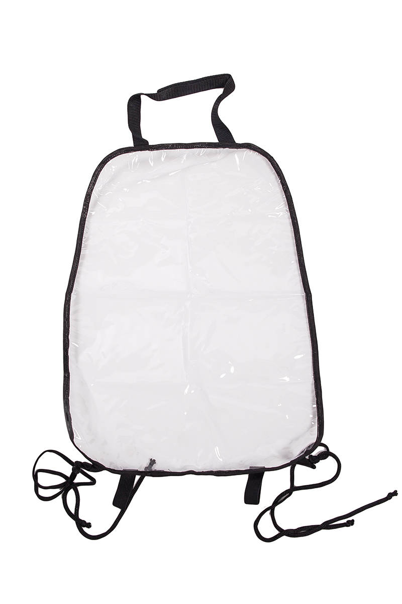 Накидка защитная на спинку переднего сиденья AvtoTink, ПВХ, 34 х 55 смст18фПодходит для всех типов сидений Изготовлена из высокопрочного прозрачного 100% поливинилхлорида (ПВХ)защищает спинку переднего сиденья от грязной детской обувибыстро и легко крепится за направляющие подголовника с помощью липучки-велкро и веревками за основание сиденья.