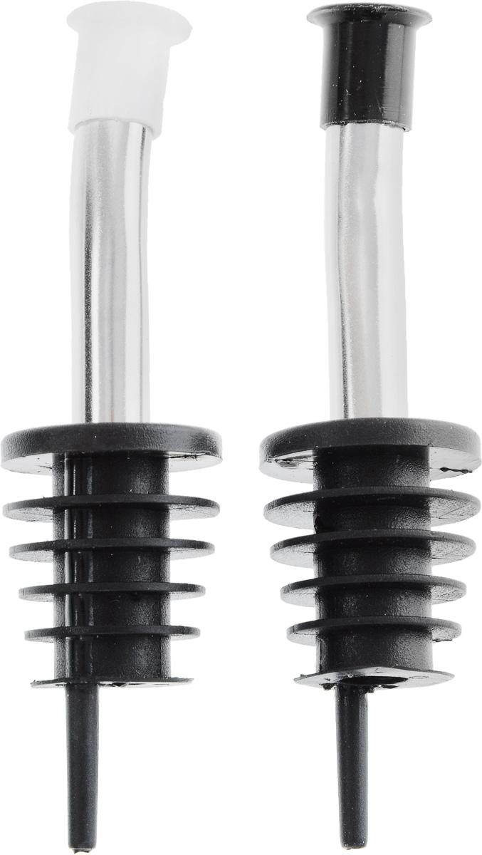 Насадки-дозаторы для бутылок Fackelmann, 2 штVT-1520(SR)Насадки-дозаторы для бутылки Fackelmann выполнены из полипропилена и стали. Изделия оснащены удобными носиками для розлива, которые плотно закрываются колпачками. Насадки можно прикрепить к горлышку бутылки подсолнечного масла или бутылок с алкоголем. Хранить бутылки можно с насадками.С такими насадками дозировать жидкость станет намного удобнее.Длина насадки: 10 см.Комплектация: 2 шт.