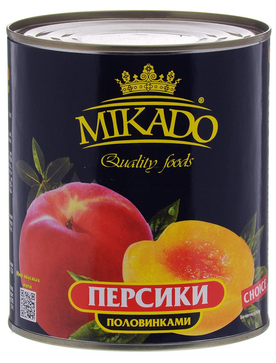 Mikado персики половинками в сиропе, 850 мл mikado mikado l 41 61 d 7