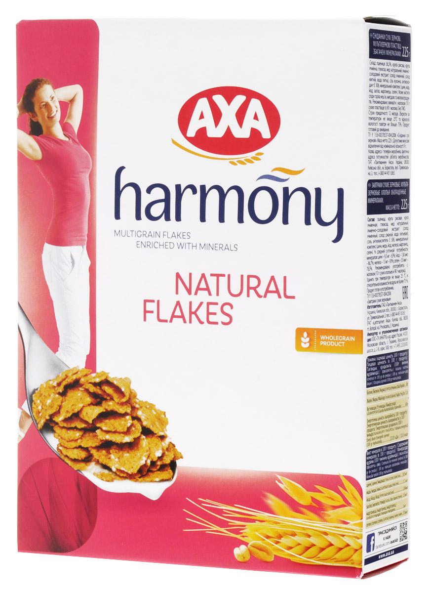 АХА Гармония мультизерновые хлопья натуральные, 225 г0120710АХА Гармония - уникальный мультизерновой продукт, в основе которого хлопья из цельных зерен пшеницы, риса и ячменя, обогащенная минеральным комплексом. Наполните свой день натуральными продуктами, свежими фруктами и питательными хлопьями АХА Гармония!