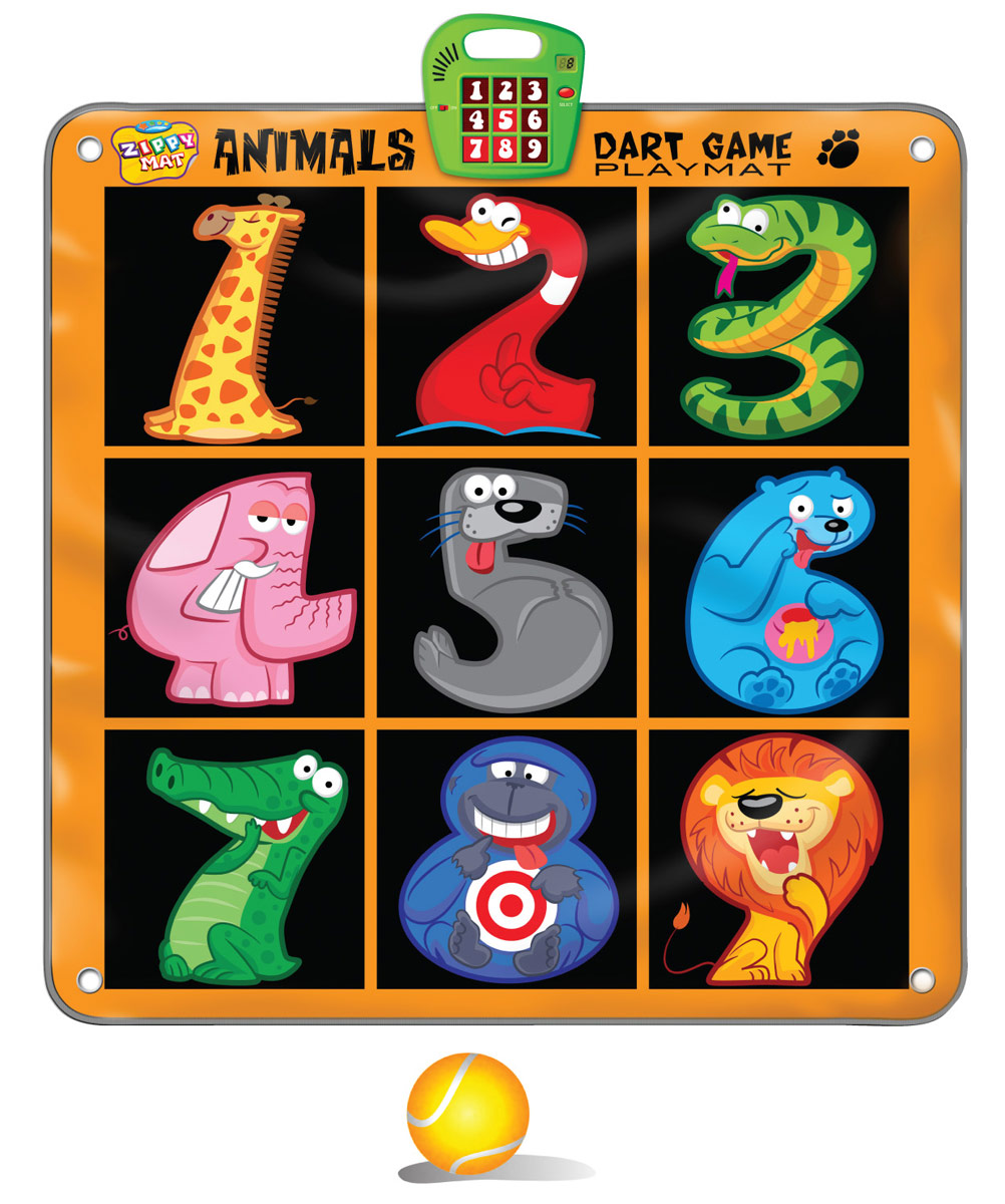 Музыкальный коврик Amico – это увлекательная игрушка для подвижных игр. Она способствуют всестороннему развитию ребенка, сочетая в себе элементы игры, танца и спорта. Коврики реагируют на прикосновения и содержат несколько интерактивных игр, сопровождающихся веселой музыкой и звуками. Этот коврик обязательно придется по вкусу любителям активных игр. Попадая в мишень, набирайте очки, которые отображаются на ЖК-дисплее, а мягкие дротики сделают игру безопасной. 2 режима игры, ЖК-дисплей, рассчитан на несколько игроков, 3 мягких мячика входят в комплект, автоматическое отключение.