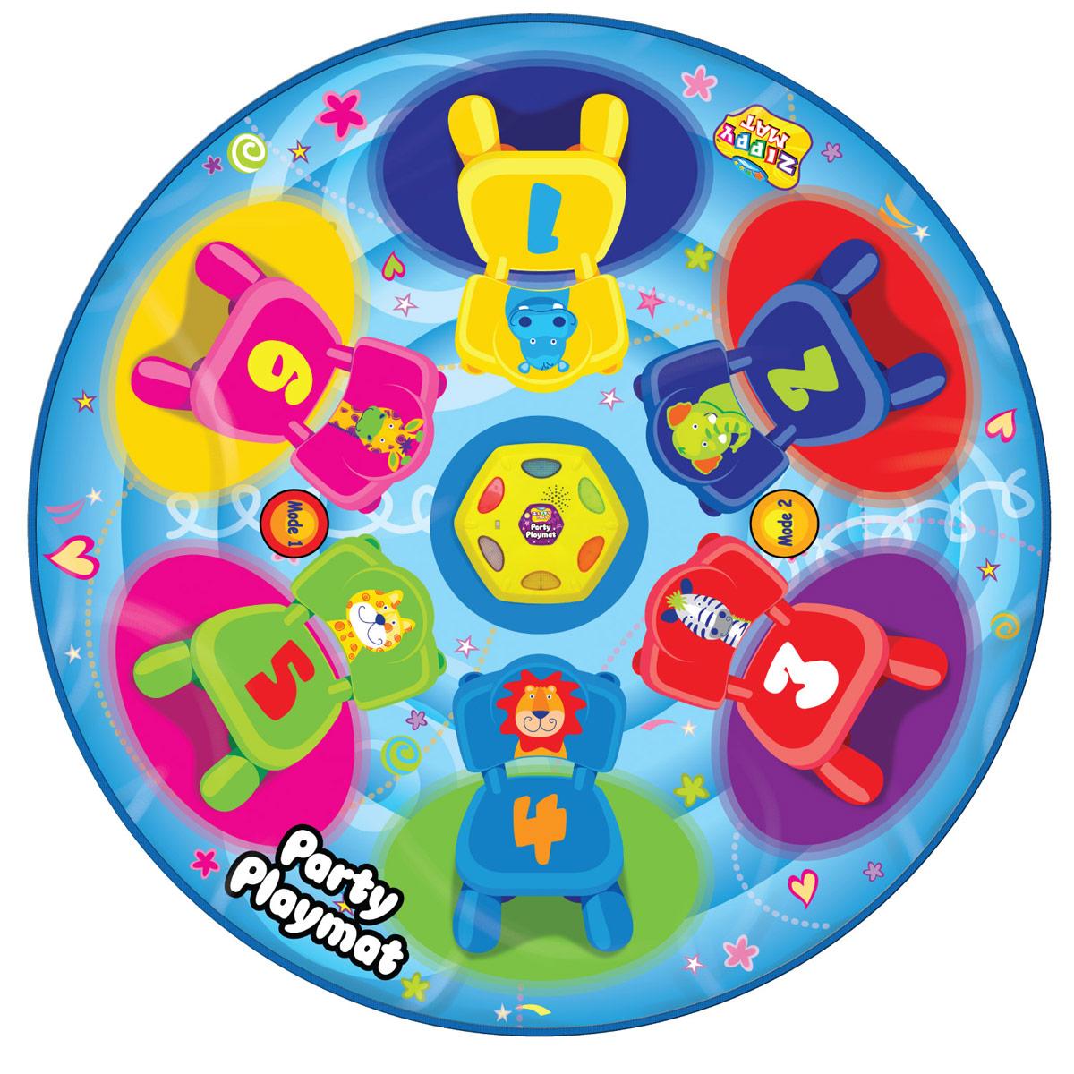 Музыкальный коврик Amico – это увлекательная игрушка для подвижных игр. Она способствуют всестороннему развитию ребенка, сочетая в себе элементы игры, танца и спорта. Коврики реагируют на прикосновения и содержат несколько интерактивных игр, сопровождающихся веселой музыкой и звуками. Веселая подвижная игра, в которой побеждает самый ловкий и быстрый. С таким ковриком любая развлекательная программа или вечеринка станет забавнее, веселее и интереснее! Игроки бегают вокруг коврика ,пока звучит музыка, и должны наступить на загорающиеся огоньки, как только она закончится. Каждый раз загорается на один огонек меньше пока не останется только один. 2 режимов игры, 6 мигающих огоньков, автоматическое отключение.