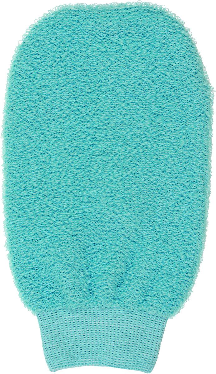 Мочалка-рукавица для лица Riffi, цвет: бирюзовый900_бирюзовый