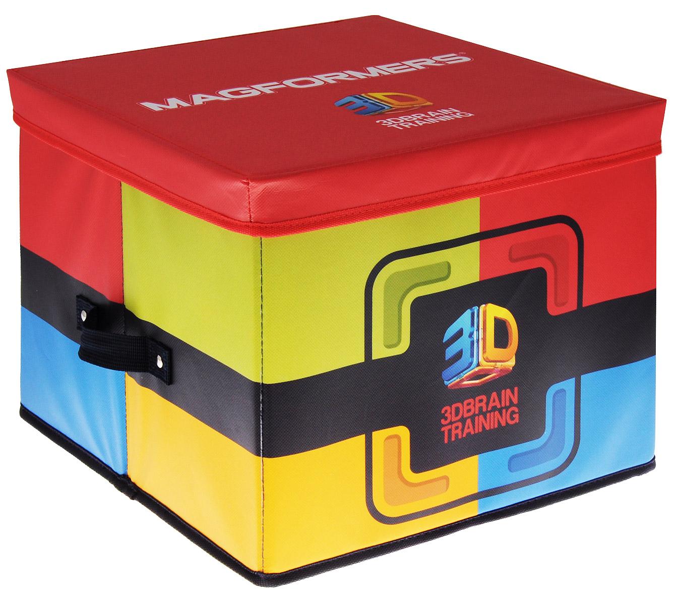 Magformers Коробка для хранения конструктора531-402Вы не знаете, где хранить ваш любимый конструктор? Коробка для хранения конструктора Magformers - отличное решение!Коробка имеет два отсека для хранения различных деталей конструктора и карман для книги идей, тематических карт или фотографий ваших построек. Корпус так прочен, что может послужить даже детским стульчиком.Коробка позволит сохранить конструктор и не потерять элементы, а также защитить их от пыли, грязи и влаги.Удобно складывается, что делает его очень компактным при хранении.