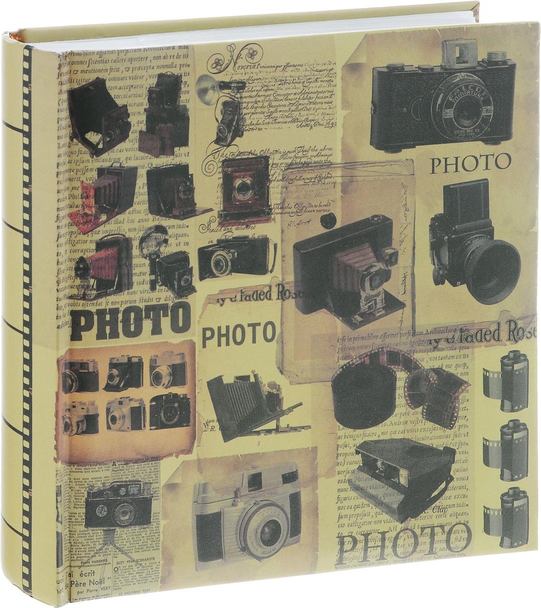 """Фотоальбом Феникс-Презент """"Винтажные фотоаппараты"""", 200 фотографий, 10 х 15 см"""