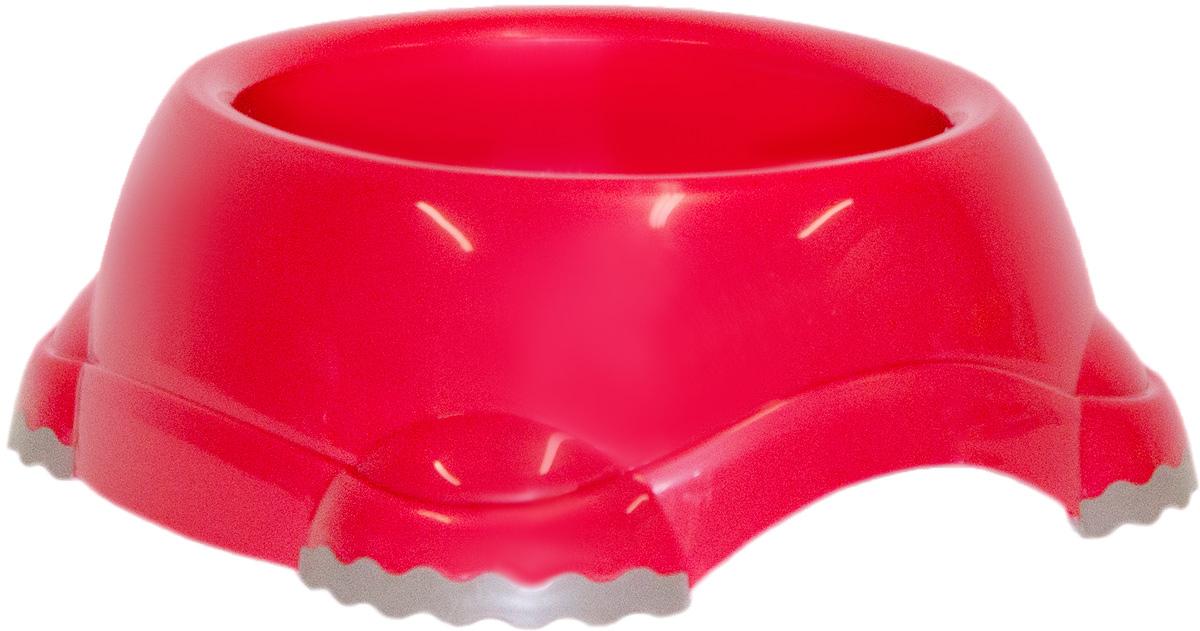 Миска Moderna Smarty bowl, с антискольжением, цвет: бордовый, 19 х 7 см0120710Миска для корма и воды из полированного пластика. Ножки миски имеют резиновые накладки для предотвращения скольжения по полу. Качественный пластик не гнется, не ломается, не впитывает запахи, миска легко моется, имеет длительных срок эксплуатации. Стильный дизайн, широкая цветовая гамма. Специально разработанная конструкция для удобства Вашего питомца.Характеристики:Размер миски: 24 х 21 х 9 см;Глубина миски: 7 см;Цвет: бордовый.