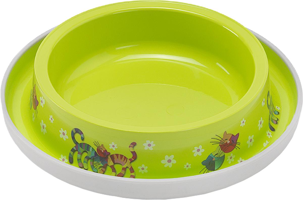 Миска для кошек Moderna Trendy Dinner. Друзья навсегда, цвет: салатовый, 210 мл0120710Удобная и оригинальная миска для кошек Moderna Trendy Dinner. Друзья навсегда выполнена из пищевого пластика с нескользящим дном. Можно использовать для воды и корма. Миска устойчива и не переворачивается. Высококачественная полировка, устойчива к деформации. Можно мыть в посудомоечной машине. Объем миски: 210 мл.