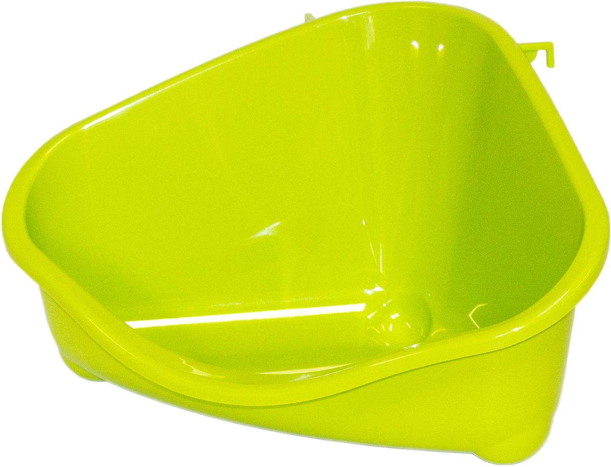 Место для грызуна Moderna, среднее, цвет: зеленый, 35 х 23,4 х 19 см12171996Очень удобное место Moderna поможет создать комфортные условия в клетке для вашего грызуна. Изделие выполнено из пластика, оно безопасно для животного.Место для грызуна поможет сделать из клетки уютный домик для питомца.Размер: 35 х 23,4 х 19 см.