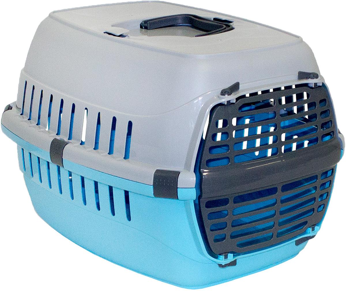 Переноска для животных Moderna Roadrunner 1, с пластиковой дверью, цвет: голубой, 31 х 51 х 34 см0120710Переноска Moderna Roadrunner 1 выполнена из высококачественного пластика и имеет приятный внешний вид. Она достаточно вместительна и оснащена вентиляционными отверстиями в боковых частях, благодаря чему животное может дышать. Спереди расположена пластиковаядверца-решетка. Сверху имеется ручка для удобной транспортировки.Размер: 31 х 51 х 34 см.