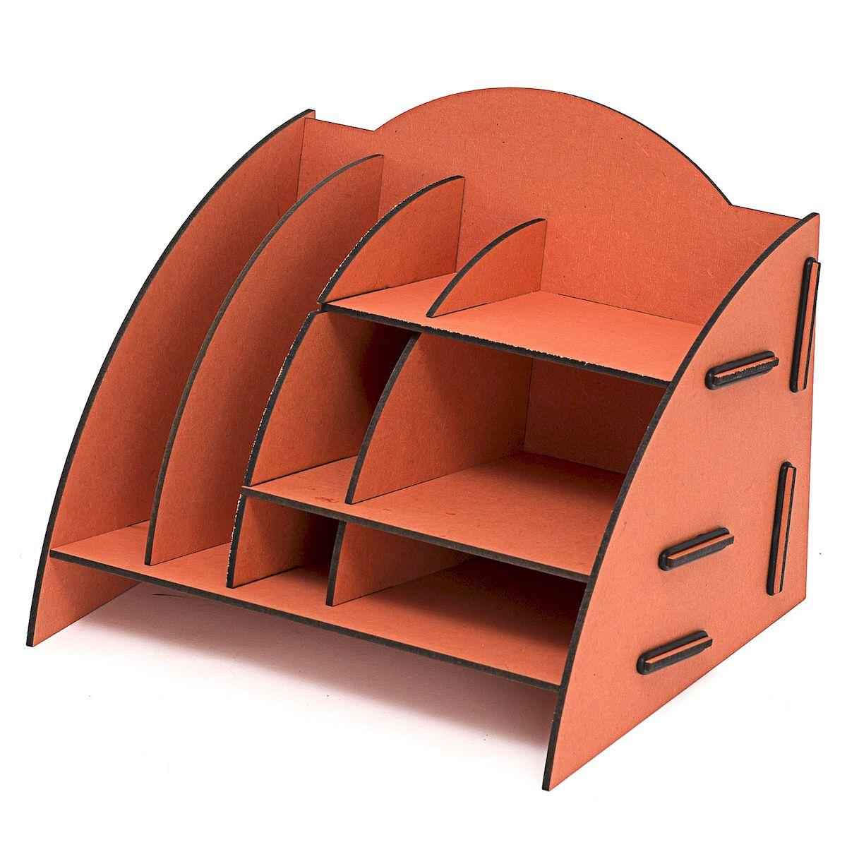 Органайзер настольный Homsu, 8 отделов, 23 x 20 x 19 см74-0060Настольный органайзер Homsu выполнен из МДФ и легко собирается из съемных частей. Изделие имеет 8 отделений для хранения документов, канцелярских предметов и всяких мелочей. Органайзер просто незаменим на рабочем столе, он вместителен и не занимает много места. Оригинальный дизайн дополнит интерьер дома и разбавит цвет в скучном сером офисе. Размер: 23 х 20 х 19 см.