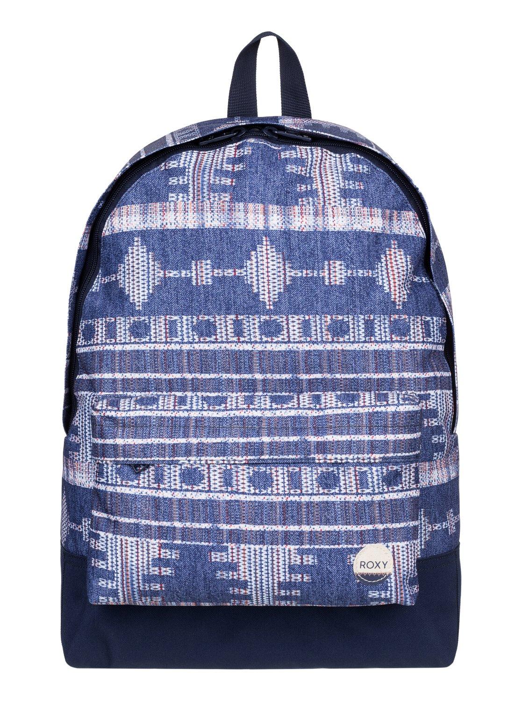 Рюкзак женский Roxy Be Young, цвет: синий. ERJBP03266-BSQ723008Женский рюкзак Roxy выполнен из текстиля. У модели одно основное отделение. Передний карман на молнии. Рюкзак с регулируемыми по длине плечевыми лямками и петлей для подвешивания.