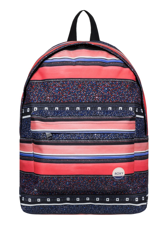 Рюкзак женский Roxy Be Young, цвет: синий, оранжевый. ERJBP03266-MLR6S76245Женский рюкзак Roxy выполнен из текстиля. У модели одно основное отделение. Передний карман на молнии. Рюкзак с регулируемыми по длине плечевыми лямками и петлей для подвешивания.