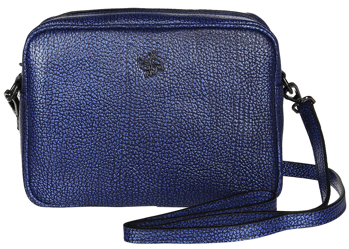 Сумка женская Vitacci, цвет: синий. V1114KV996OPY/MИзысканная женская сумка Vitacci идеально дополнит ваш образ. Она изготовлена из качественной искусственной кожи зернистой текстуры и оформлена фирменным значком. Внутри расположено одно вместительное отделение, которое содержит два открытых накладных кармана для телефона и мелочей и один вшитый карман на молнии. Сумка оснащена удобным плечевым ремнем, длина которого регулируется с помощью пряжки. Роскошная и модная сумка внесет элегантные нотки в ваш образ и подчеркнет ваш неповторимый стиль.