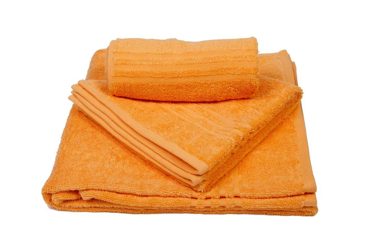 Набор махровых полотенец Arloni Marvel, цвет: оранжевый, 3 шт1004900000360Набор Arloni Marvel состоит из трех полотенец разных размеров. Полотенца, выполненные из натурального хлопка, подарят вам мягкость и необыкновенный комфорт в использовании. Ткань не вызывает аллергических реакций, обладает высокой гигроскопичностью и воздухопроницаемостью. Полотенца великолепно впитывают влагу, нежные на ощупь не теряют своих свойств после многократной стирки.