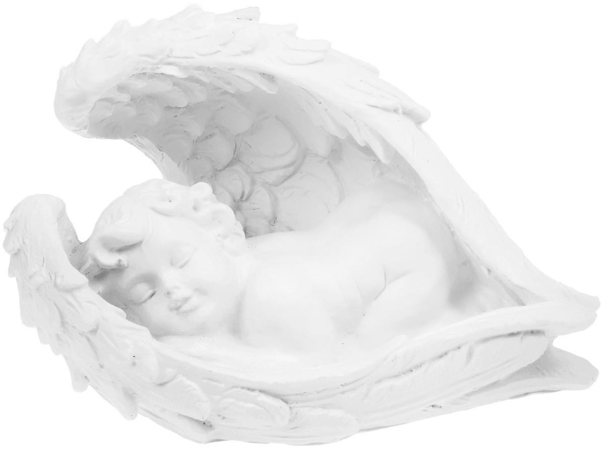 Фигурка декоративная Феникс-Презент Крылья ангела, высота 15 см670137Фигурка декоративная Феникс-Презент Крылья ангела, выполненная из полирезины, станет оригинальным подарком для всех любителей необычных вещей. Она выполнена в классическом стиле в виде спящего ангела. Изысканный сувенир станет прекрасным дополнением к интерьеру. Вы можете поставить фигурку в любом месте, где она будет удачно смотреться и радовать глаз.