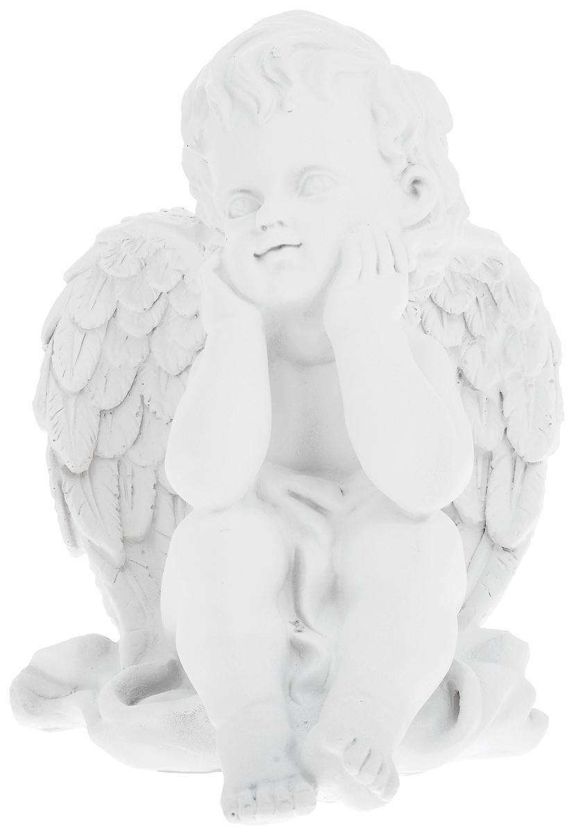 Фигурка декоративная Феникс-Презент Мечтающий ангел, высота 20,5 см670113Фигурка декоративная Феникс-Презент Мечтающий ангел, выполненная из полирезины, станет оригинальным подарком для всех любителей необычных вещей. Она выполнена в классическом стиле в виде мечтающего ангела. Изысканный сувенир станет прекрасным дополнением к интерьеру. Вы можете поставить фигурку в любом месте, где она будет удачно смотреться и радовать глаз.