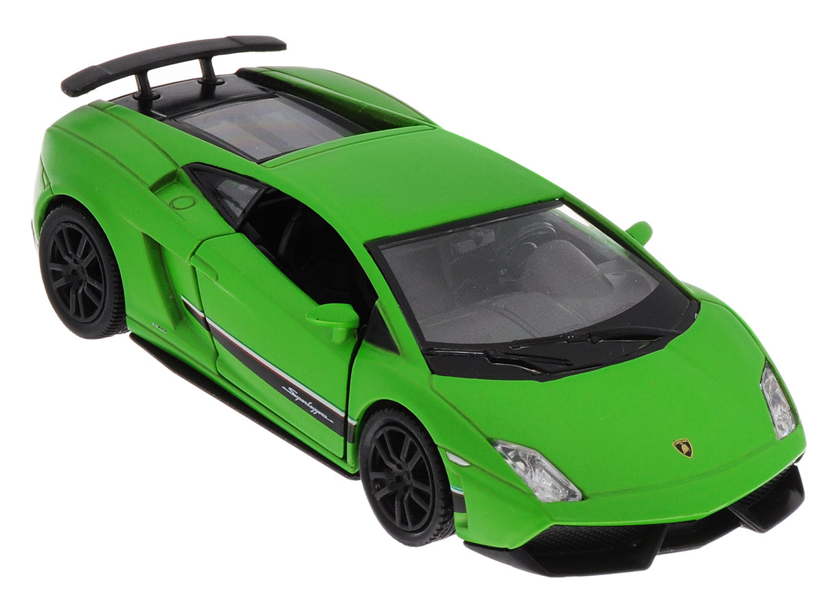 Uni-FortuneToys Модель автомобиля Lamborghini Gallardo LP 570-4 Superleggera цвет зеленый технопарк машинка инерционная lamborghini gallardo lp 560 4 цвет красный