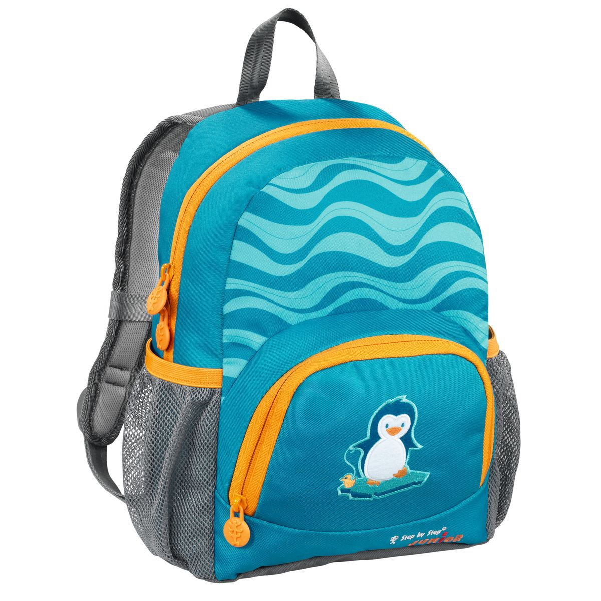 Hama Рюкзак детский Step By Step Junior Dressy Little Penguin730396Рюкзак детский Step By Step Junior Dressy little penguin голубой/серый