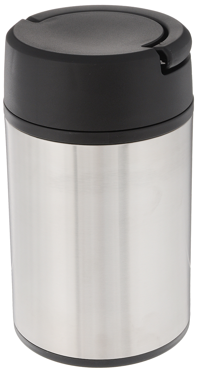 Термос Tescoma Constant, с ручкой, 1 л115610Термос Tescoma Constant изготовлен из нержавеющей стали. Вакуумный термос с двойной колбой сохраняет горячие и холодные напитки в течение нескольких часов. Термос оснащен двумя пластиковыми мисками для хранения супов, соусов, гарниров, салатов и много другого. Откидная ручка позволяет удобно переносить термос и экономить место. Термос при обычном использовании не деформируется. Продукты можно хранить и переносить непосредственно в нержавеющей емкости или пластиковых мисках, которые можно вкладывать в термос.Нельзя мыть в посудомоечной машине.Диаметр горлышка по верхнему краю: 10 см. Диаметр основания: 10 см. Высота термоса: 20 см. Диаметр чашки по верхнему краю: 5,5 см.