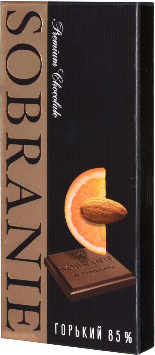 Sobranie горький шоколад с апельсином и орехами, 45 г0120710Sobranie — особый шоколад, в котором соединяются верность российским кондитерским традициям, бескомпромиссность качества и изысканность вкуса. Созданный по бережно хранимому рецепту прошлоговека, шоколад Sobranie изготавливается исключительно из отборных какао-бобов с Берега Слоновой Кости.