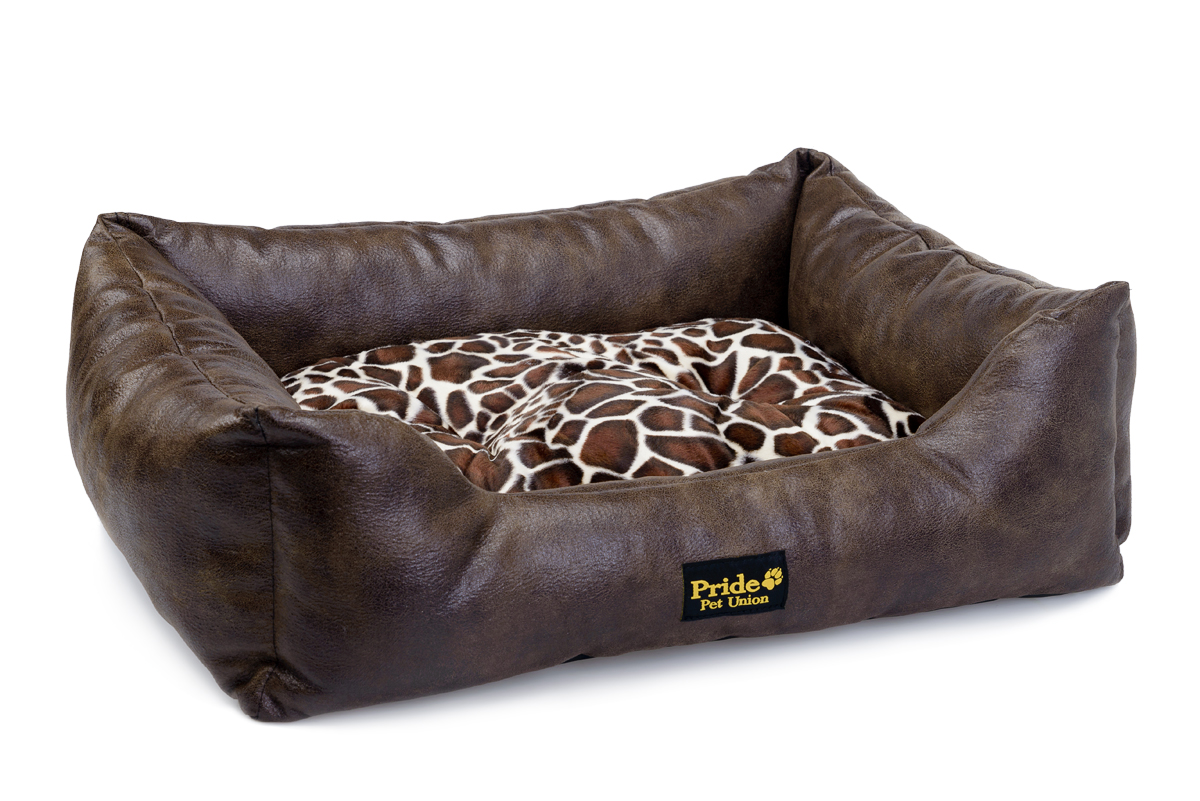 Лежак для животных Pride Президент, цвет: коричневый, 60 х 50 х 18 см0120710Уютный лежак для животных Pride Президент обязательно понравится вашему питомцу. В нем питомец будет счастлив, так как лежак очень мягкий и приятный. Он будет проводить все свое свободное время в нем, отдыхать, наслаждаясь удобством. Лежак выполнен из искусственной кожи, также имеется подушка, которая легко вынимается и ее можно использовать отдельно.