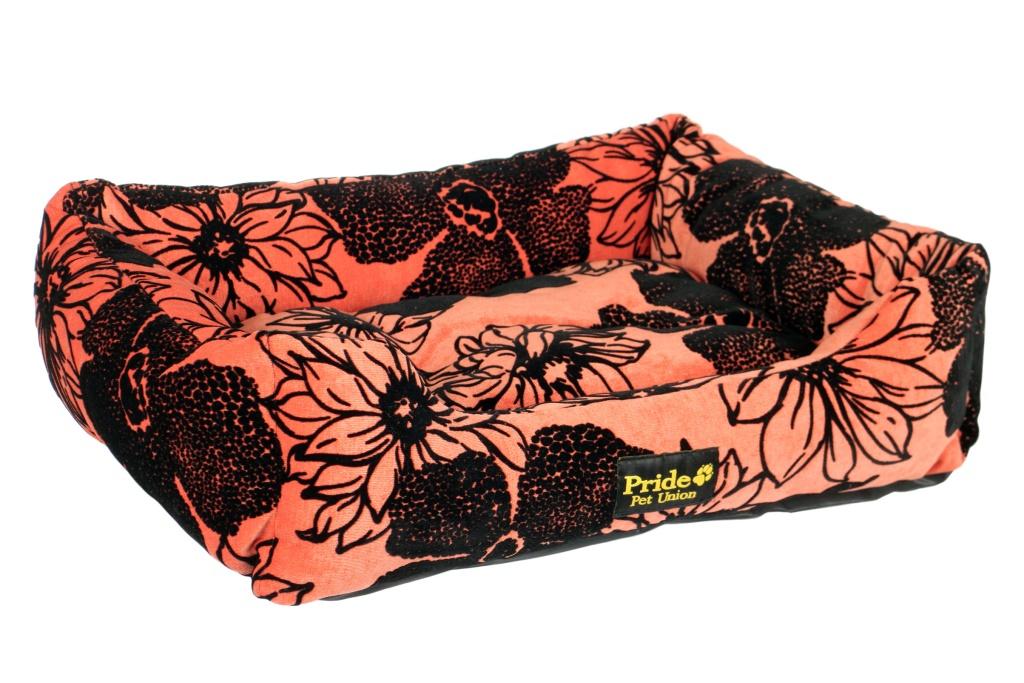Лежак для животных Pride Флора, цвет: коралловый, 52 х 41 х 10 см0120710Лежак Pride Флора непременно станет любимым местом отдыха вашего домашнего животного. Изделие выполнено из высококачественного хлопка, а наполнитель - из полиэфирного волокна. Такой материал не теряет своей формы долгое время. На таком лежаке вашему любимцу будет мягко и тепло. Он подарит вашему питомцу ощущение уюта и уединенности.