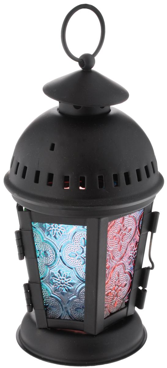 Подсвечник Феникс-Презент Многоцветие, высота 19 см38847Декоративный подсвечник Феникс-презент Многоцветие изготовлен из высококачественного стекла и металла в виде фонаря. Внутрь подсвечника вставляется одна чайная свеча (в комплект не входит). Оригинальный и изысканный, такой подсвечник позволит украсить интерьер дома или рабочего кабинета оригинальным образом. Вы можете поставить или подвесить подсвечник в любом месте, где он будет удачно смотреться и радовать глаз. Кроме того - это отличный вариант подарка для ваших близких и друзей. Размер подсвечника: 8,5 х 8,5 х 19 см.Размер основания для свечи: 4,5 х 4,5 см.