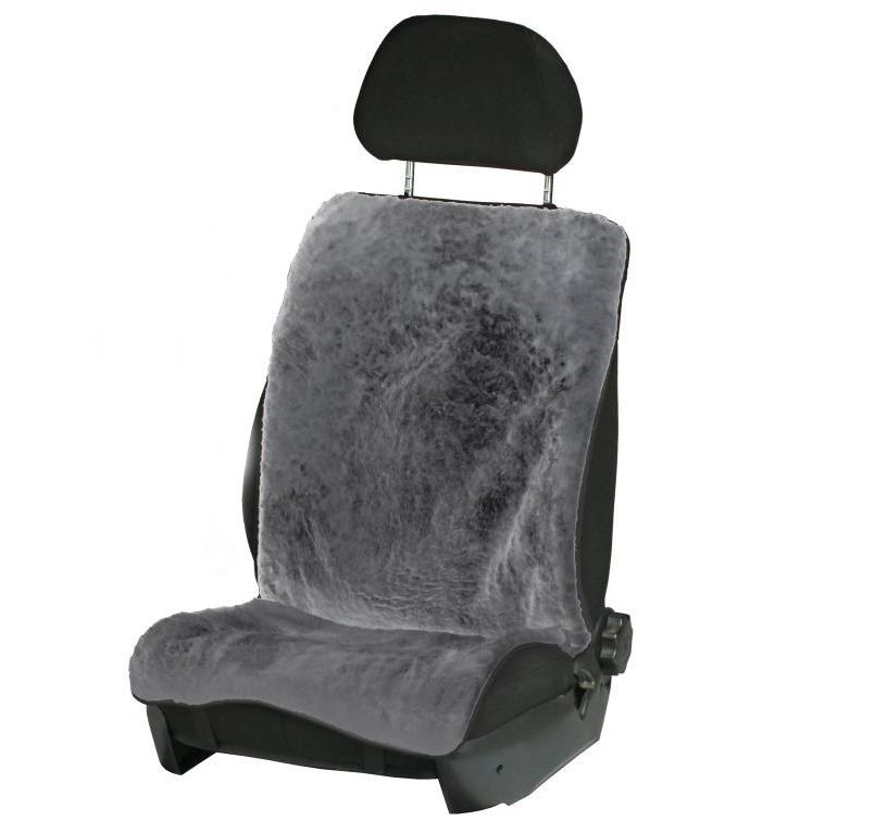 Накидка на переднее сиденье Airline, из натурального меха, цвет: серый54 009312Накидка Airline предназначена для защиты обивки автомобильных сидений от истирания. Она выполнена из натурального овечьего меха с коротким ворсом. Универсальная система крепления позволяет применять изделие на все модели автомобилей.Особенности:Теплый зимой.Универсальный размер.Подходит как на водительское, так и на переднее пассажирское сидение.