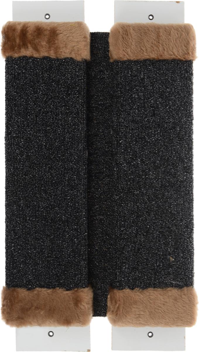 Когтеточка ЗооМарк, настенная, угловая, цвет: светло-коричневый, 57 х 30 х 3,5 см0120710Угловая когтеточка ЗооМарк предназначена для стачивания когтей вашей кошки и предотвращения их врастания. Волокна ковролина обеспечивает естественный уход за когтями питомца. Когтеточка позволяет сохранить неповрежденными мебель и другие предметы интерьера. Угловая когтеточка может крепиться на смежных поверхностях стен и пола.Длина когтеточки: 57 см.Длина рабочей части: 48 см.