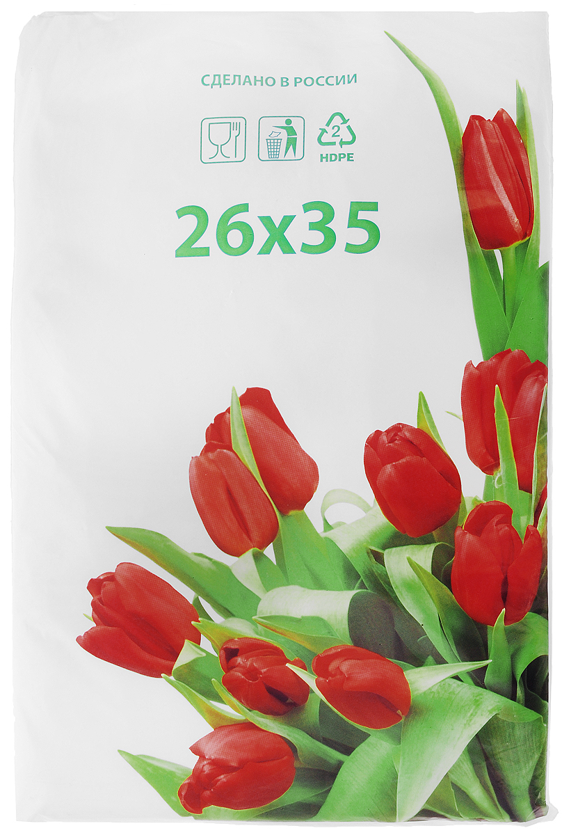 Пакет фасовочный Артпласт Тюльпаны, 26 х 35 см, 1000 шт21395599Фасовочные пакеты Артпласт Тюльпаны - это пакеты без ручек, выполненные из ПНД (полиэтилена низкого давления). Такие пакеты являются практичными, экономичными и простыми. Фасовочные пакеты в основном используются для упаковки различных пищевых продуктов, а также упаковки некоторых видов товаров непродовольственной группы. Пакеты упакованы в пласт белого цвета с изображением красных тюльпанов. Размер пакетов: 26 х 35 см.