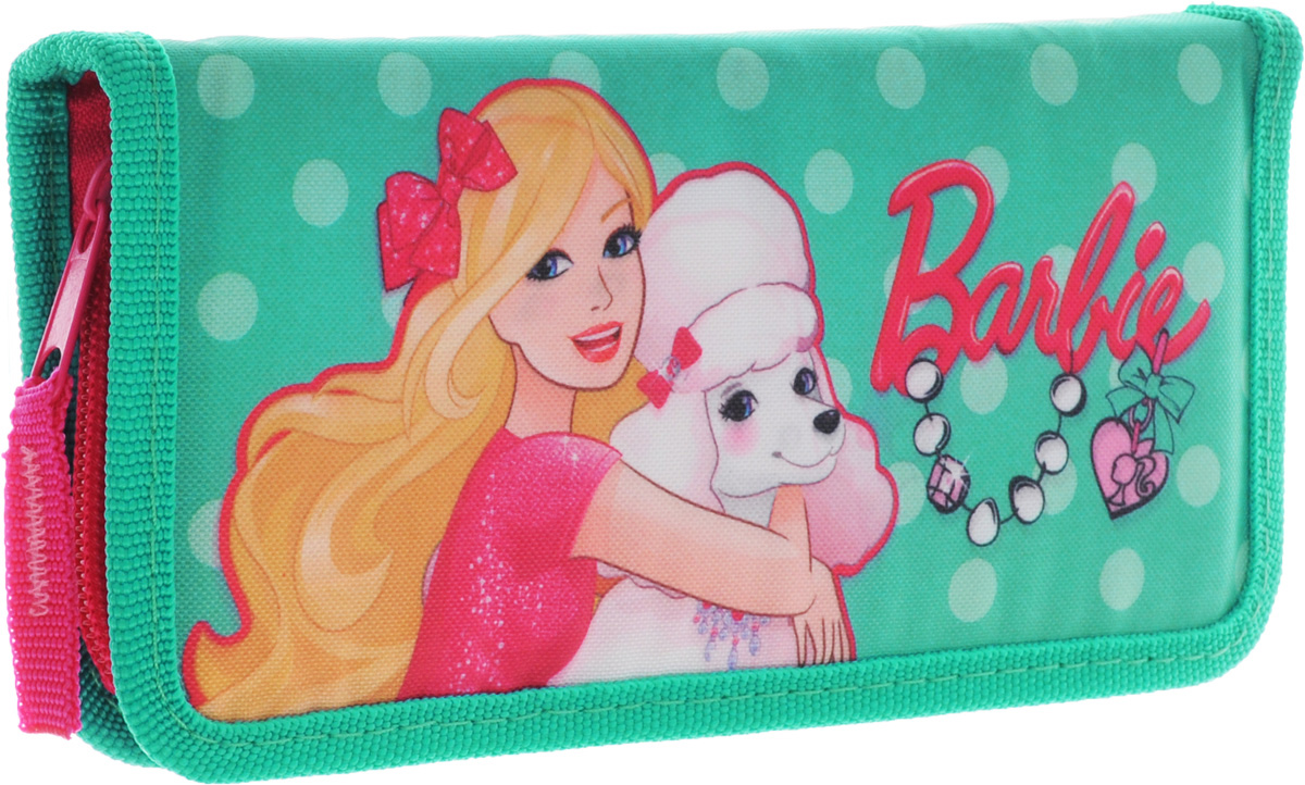 Пенал жесткий тканевый, с креплениями для канцелярских принадлежностей, размер20 х 9 х 3 см, Barbie730396Качественный пенал для школьников младших классов. Это своего рода органайзер, в котором компактно размещаются все канцелярские принадлежности, необходимые в школе: ручки, карандаши, фломастеры, ластики, точилки, измерительные принадлежности и т.д. Цвет: голубой.Тип: Жесткий пенал.Пол: Для девочек .Возраст: Младшие классы .Форма: Прямоугольник.Материал: Полиэстер, Картон.Размер: 200х90х30 мм.