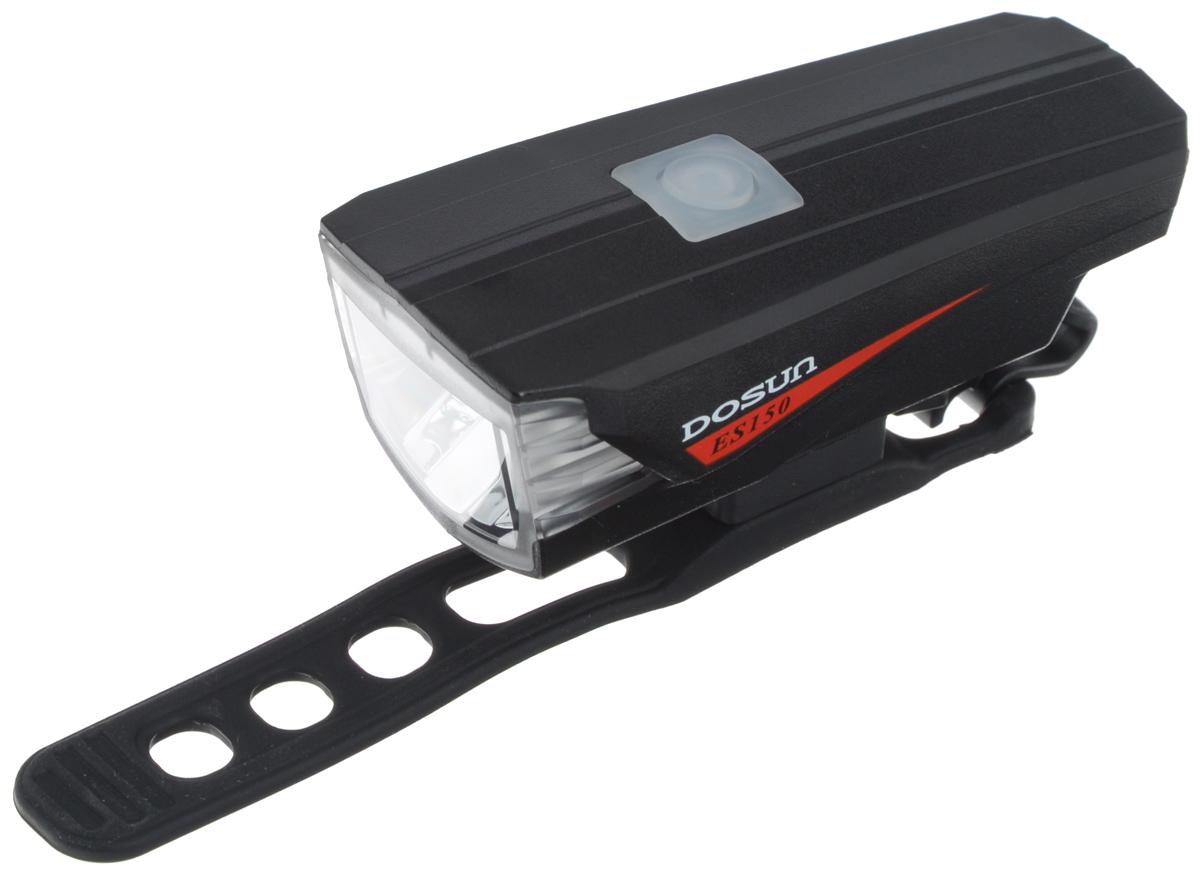 Передний габаритный фонарь Dosun ES150, с зарядкой от USBES150/5060Передний габаритный фонарь Dosun ES150 сделает ваш велосипед более заметным в темное время суток. Корпус модели имеет изысканные обтекаемые формы. С помощью регулируемого силиконового ремешка фонарь с легкостью крепится на руль велосипеда без каких-либо инструментов, при необходимости его также можно зафиксировать на рюкзаке и других предметах. Фонарь работает в трех различных режимах: сильное освещение, слабое освещение, мигание. 150 люменов освещения дают райдеру возможность наслаждаться скоростью в темное время суток. Встроенный аккумулятор заряжается с помощью USB-кабеля.Емкость аккумулятора: 1160 mAh Li-ion Polymer. Время зарядки: 3 часа. Диаметр штанги руля: 20-40 мм.