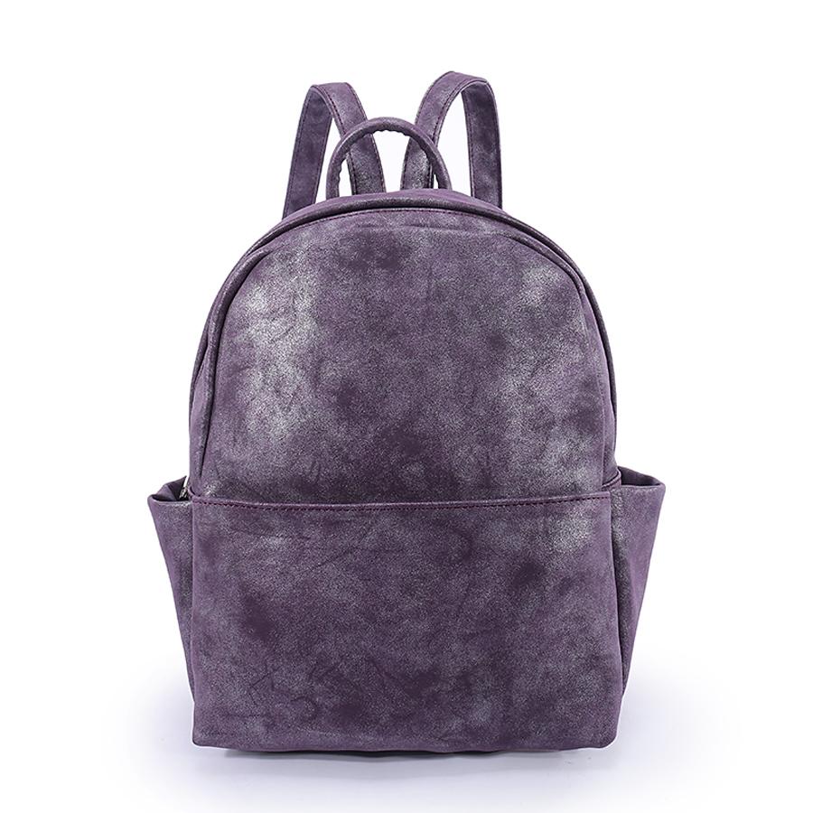 Рюкзак женский Orsa Oro, цвет: аметист. D-181/2S76245Стильный женский рюкзак Orsa Oro выполнен из экокожи. Рюкзак имеет одно основное отделение, которое закрывается на застежку-молнию. Внутри находятся прорезной карман на застежке-молнии и три накладных открытых кармана. Снаружи, на передней стенке находится нашивной карман на застежке-молнии, по бокам - накладные открытые карманы, на задней стенке - прорезной карман на застежке-молнии.Рюкзак оснащен лямками регулируемой длины и ручкой для переноски в руке.