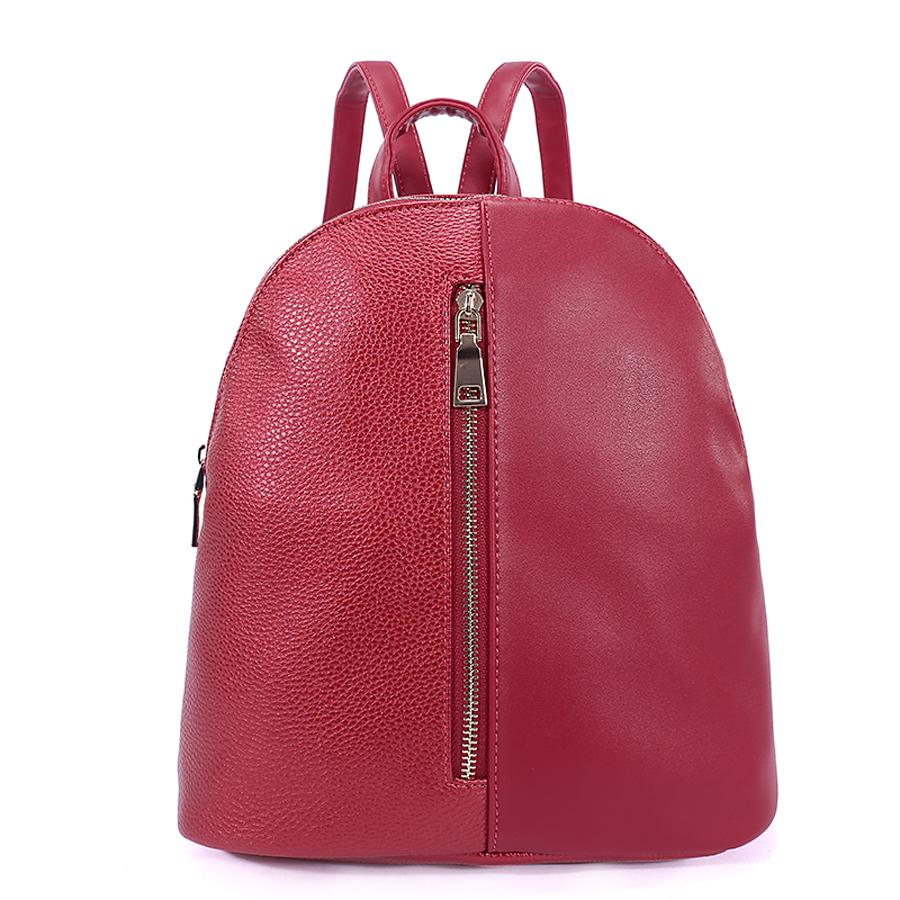 Рюкзак женский Orsa Oro, цвет: красный. D-178/26RivaCase 8460 blackСтильный женский рюкзак Orsa Oro выполнен из экокожи. Модель с одним отделением застегивается на молнию.На лицевой и задней стороне располагаются врезные карманы на молнии. Внутри изделие содержит накладной карман для телефона и врезной карман на молнии. Рюкзак оснащен удобными плечевыми лямками регулируемой длины, а также петлей для подвешивания.