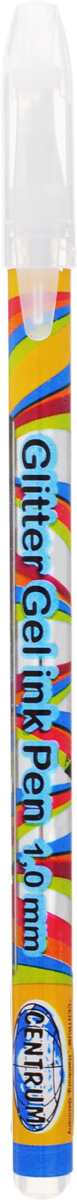 """Ручка гелевая серебро """"PLASMA"""" с металлическим наконечником 0,8 мм в прозрачном корпусе с пластиковыми вставками, клип в цвет чернил. 12 шт., Centrum"""