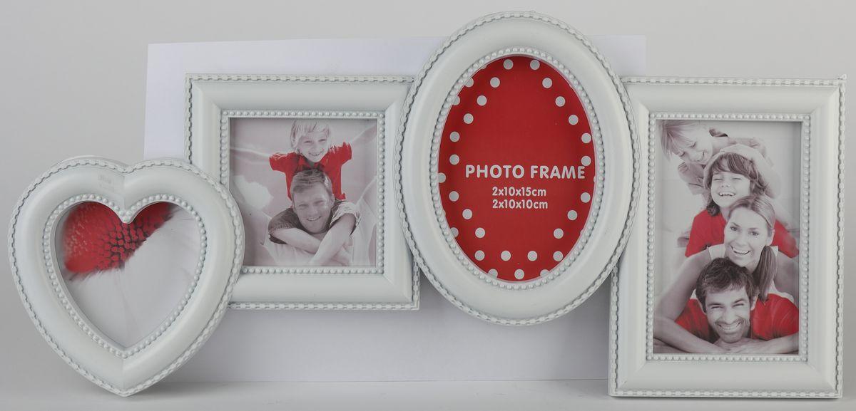 Фоторамка Image Art, на 4 фото. PL30-4RG-D31SФоторамка Image Art отлично дополнит интерьер помещения и поможет сохранить на память ваши любимые фотографии. Фоторамка выполнена из пластика и представляет собой коллаж из 4 рамочек с вертикальным расположением фотографий. Изделие подвешивается к стене. Такая рамка позволит сохранить на память изображения дорогих вам людей и интересных событий вашей жизни, а также станет приятным подарком для каждого. Размер фотографий: 10 х 15 см, 10 х 10 см.