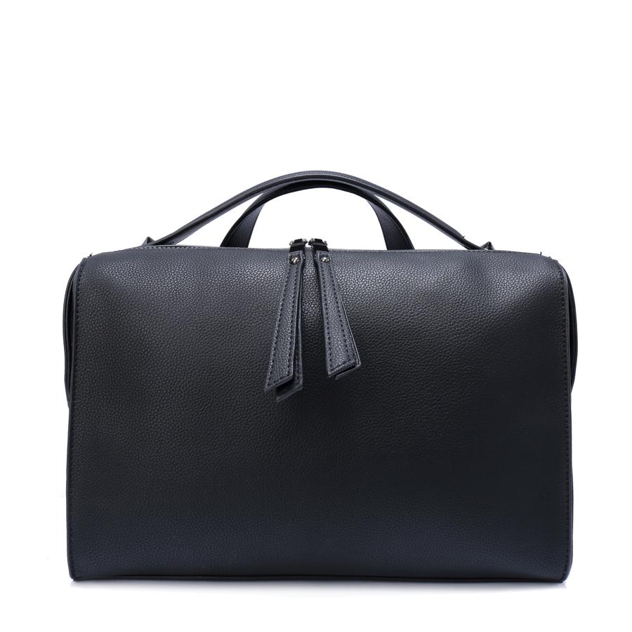 Сумка женская Orsa Oro, цвет: черный. D-161/59L39845800Сумка с одним отделением, на молнии, карман-перегородка на молнии, внутренний карман на молнии, карман для телефона, задний карман на молнии